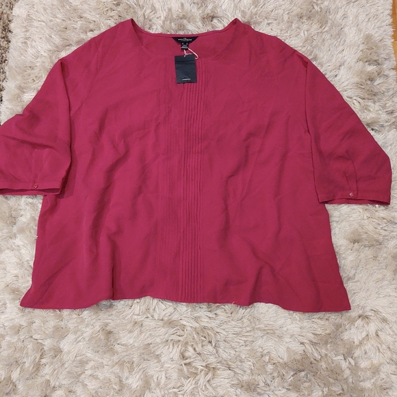 Lands End The outfitters Fuchsia Blouse 26W